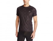75% off ASICS Men's Fujitrail Light Top, Black Print, Large
