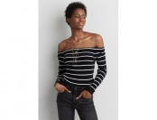 60% off AE Off-The-Shoulder Ribbed Sweater
