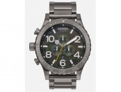 75% off NIXON BF16 51-30 Chronograph GUN/GRN Watch