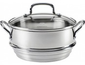 43% off Calphalon Stainless Steel Universal Steamer Insert with Lid