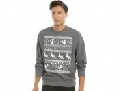 55% off Cat Fair Isle Print Sweatshirt