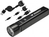 87% off Barska Portable USB Charger & Flashlight w/ 6 Adapters