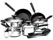 $90 off Paula Deen Signature Stainless Steel II 12-Pc Cookware Set