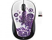 67% off Logitech M325 Wireless Laser Mouse - Purple Swirls