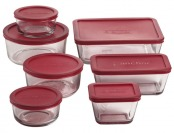 $7 off Anchor Hocking 14 Piece Kitchen Storage Set with Red Lids