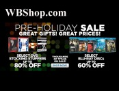 WBShop Pre-Holiday Sale - Up to 80% off DVDs, 60% off Blu-rays