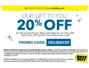 20% off small appliances, floor care, seasonal & personal care products