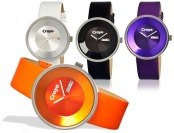 $102 off Crayo Button Stainless Steel & Leather Women's Watches
