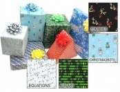 60% off Geeky Wrapping Paper, 5 Design Choices