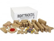 44% off Right Track Toys Wooden Train Track Super Deluxe 91 Pc Set