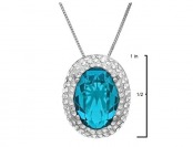 $169 off Sterling Silver Pendant-Necklace w/ Swarovski Crystals