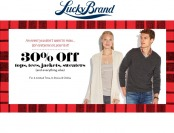 30% off Regular Priced Styles for the Entire Family at Lucky Brand