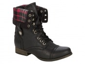 $30 off SM New York Women's Corey Black Ankle Combat Boots