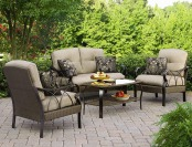 $535 off La-Z-Boy Outdoor Logan 4 Pc. Patio Furniture Set
