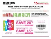 Extra 20% off orders of $100+ or 15% off Everything at Kohl's