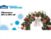 Up to 30% off Select Holiday Clearance Sale at Lowes