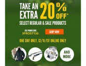 Cabela's Surprise Savings Event - Extra 20% off See;ct Items