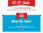 6PM.com 12-12 Sale - Great Deals on Gifts for the Entire Family