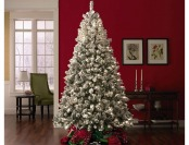 $165 off 7.5' 600 Clear Light Pre-lit Flocked Spruce Christmas Tree