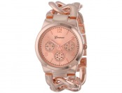 $53 off Geneva 2380-Rose-GEN Interlocked Chain Women's Watch