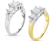 $2,599 off 14K Gold 1 cttw Certified Diamond Ring