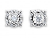 $280 off 1/4 Cttw. Diamond Sterling Silver Post Earrings
