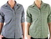 72% off ExOfficio Women's Trailing Off Micro Plaid Shirt (3 colors)