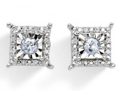 $280 off 1/4 Cttw. Diamond Sterling Silver Stud Earrings