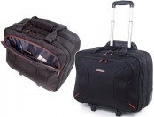 "$115 off Alpine Swiss Rolling Briefcase w/ 17"" Laptop Case"