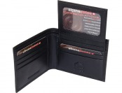 78% off Alpine Swiss Men's Leather Bifold Wallet w/ Flip Up Id Window