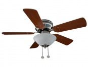 $28 off Hampton Bay Lugano 36 in. Satin Nickel Hugger Ceiling Fan
