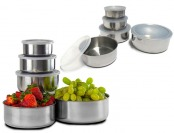78% off Imperial Home 20-Pc Stainless Steel Mixing Bowl Set