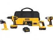 $281 off DeWalt DCK425C 4-Tool 18-Volt Cordless Combo Kit