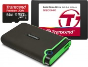 Up to 50% off Transcend Memory Cards, Hard Drives, and SSDs