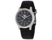 76% off Seiko SNK809 Seiko 5 Black Automatic Watch w/ Canvas Strap