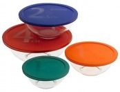 51% off Pyrex 8-Piece Glass Bowl Storage Set With Covers