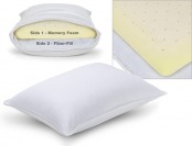 76% off Sleep Innovations Reversible 2-in-1 Bed Pillow