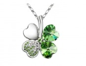 25% off Swarovski Elements 4-Leaf Clover Pendant Necklace