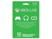 33% off Microsoft Xbox LIVE 12 Month Gold Card