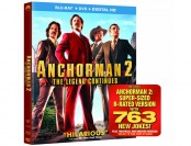 82% off Anchorman 2: The Legend Continues Blu-ray + DVD + Digital