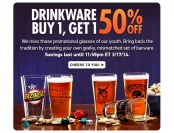 Buy One, Get One 50% off Drinkware at ThinkGeek