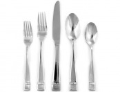 58% off Hampton Forge 45-Pc Stainless Steel Flatware Set