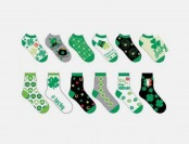 60% off 6-Pack Ladies St. Paddy's Day Socks, Crew or Ankle Length