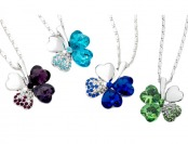 92% off Clover Necklace w/ Swarovski Elements, 4 Colors