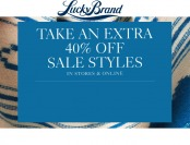 Extra 40% off Sale Styles at Lucky Brand