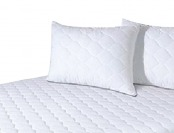 67% off Hypoallergenic Mattress Pad w/ Quilted Pillow Protectors