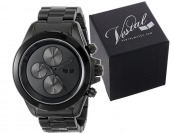 $202 off Vestal ZR-2 Minimalist Black Stainless Steel Watch
