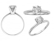 82% off 14K White Gold 1 CTW Diamond Solitaire Ring