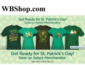 WBShop St. Patrick's Day Sale - Tons of Great Items on Sale