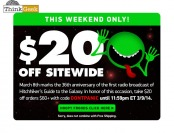 Save $20 off Orders of $60+ at ThinkGeek.com